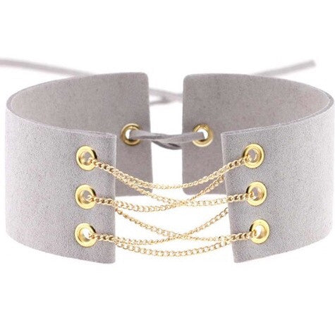 TAMMY CHOKER - GREY