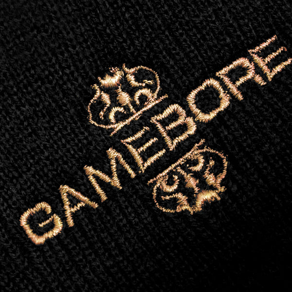 Gamebore Black Woollen Hat - Gold