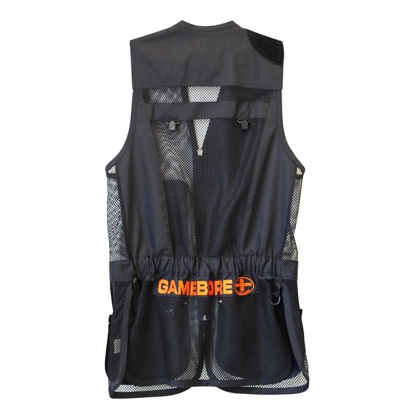 Castellani for Gamebore Shooting Vest - Black & Orange