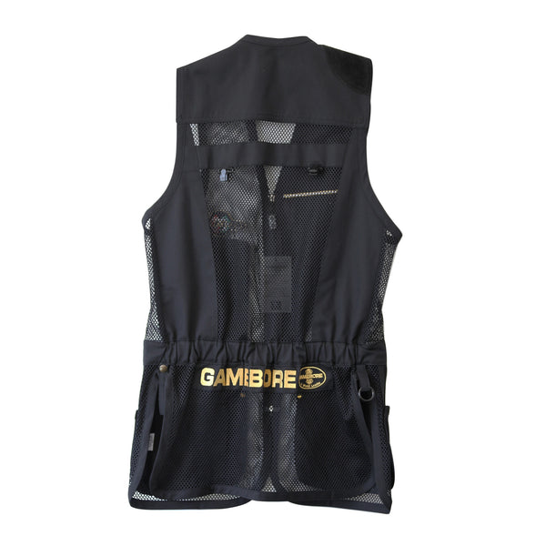 Castellani for Gamebore Shooting Vest - Black & Gold