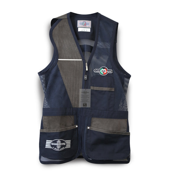 Castellani for Gamebore Shooting Vest Navy FITASC