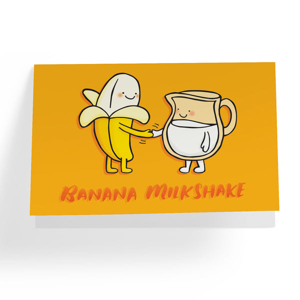 Banana Milkshake Greeting Card - A Wild Exploration