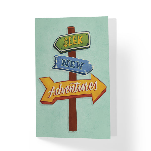 Seek New Adventures Greeting Card - A Wild Exploration