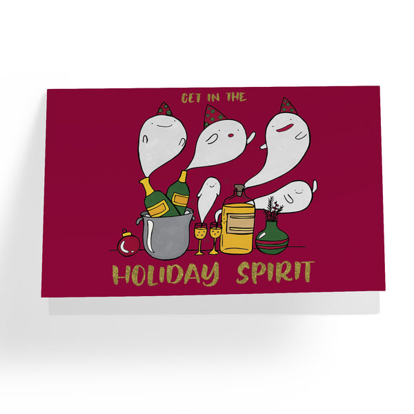 Holiday Spirit Greeting Card - A Wild Exploration