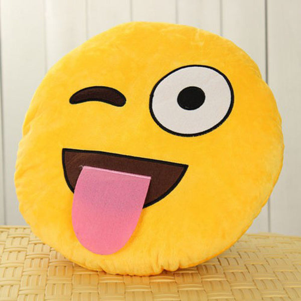 13 Styles Yellow Round Emoji Smiley Emoticon Cushion Pillow Soft Cute Stuffed Plush Toy Pillow