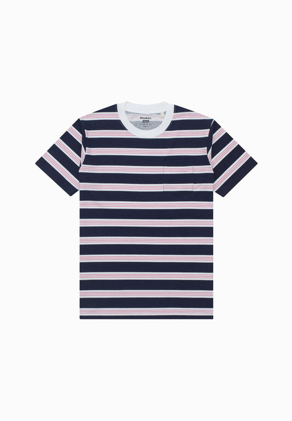 ANNENCY NAVY-WHITE TEE