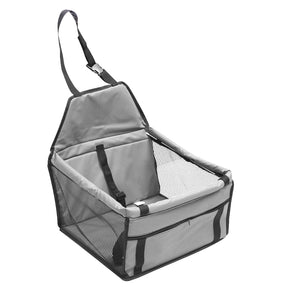 Pet Car Booster Seat Puppy Cat Dog Auto Carrier Travel Protector - Grey