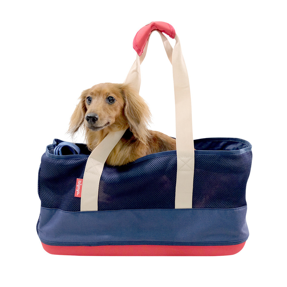 Light Pet Carrier with Hardshell Base for Dachshunds & Long Pets
