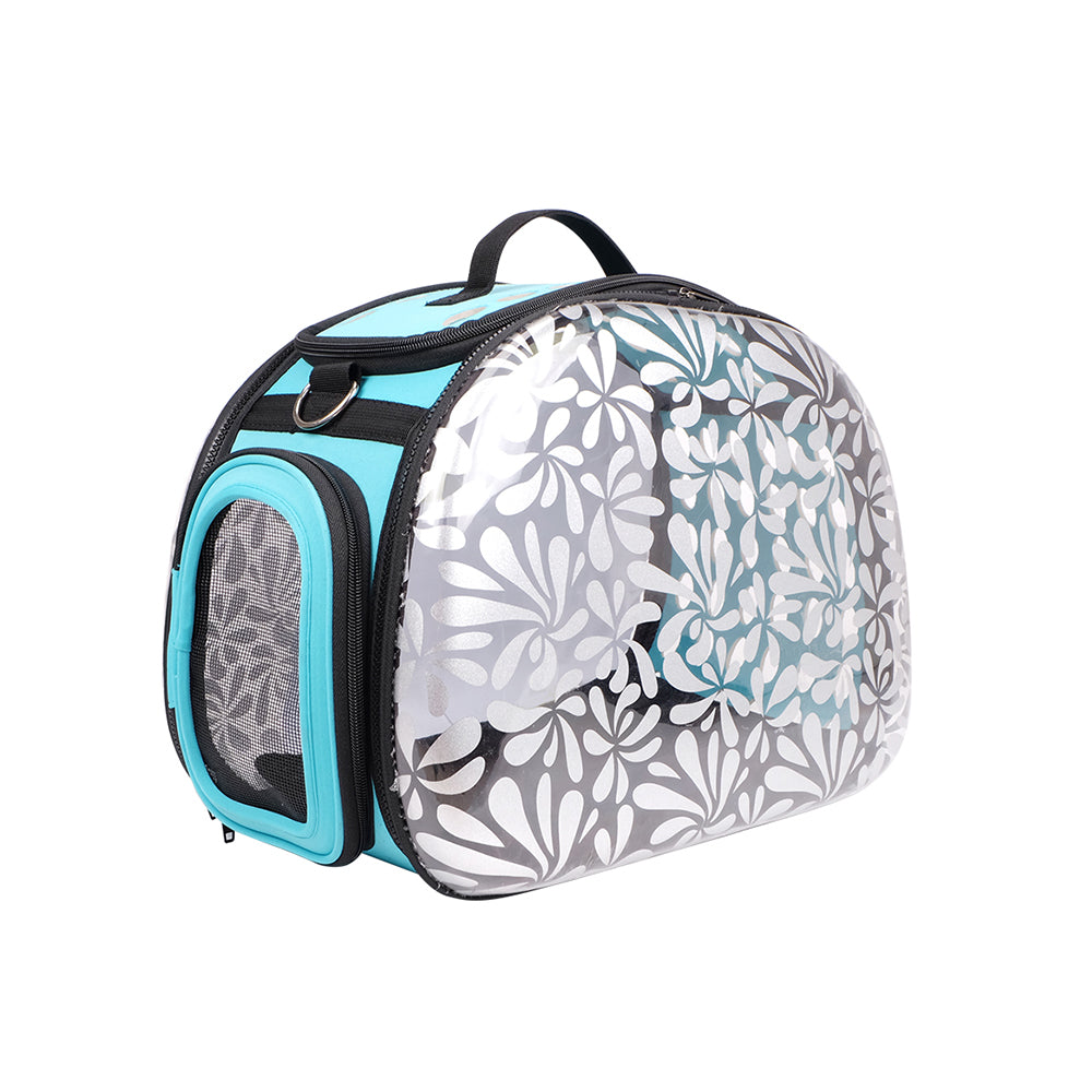 Honeysuckle Transparent Hardcase Carrier - House of Pets Delight