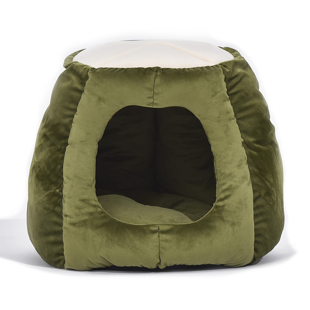 Cat Castle Igloo Round Nest Cave Green L