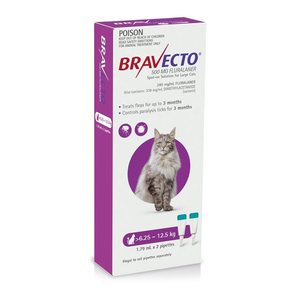 BRAVECTO SPOT-ON FOR LARGE CATS 6.25-12.5KG 2 PACK