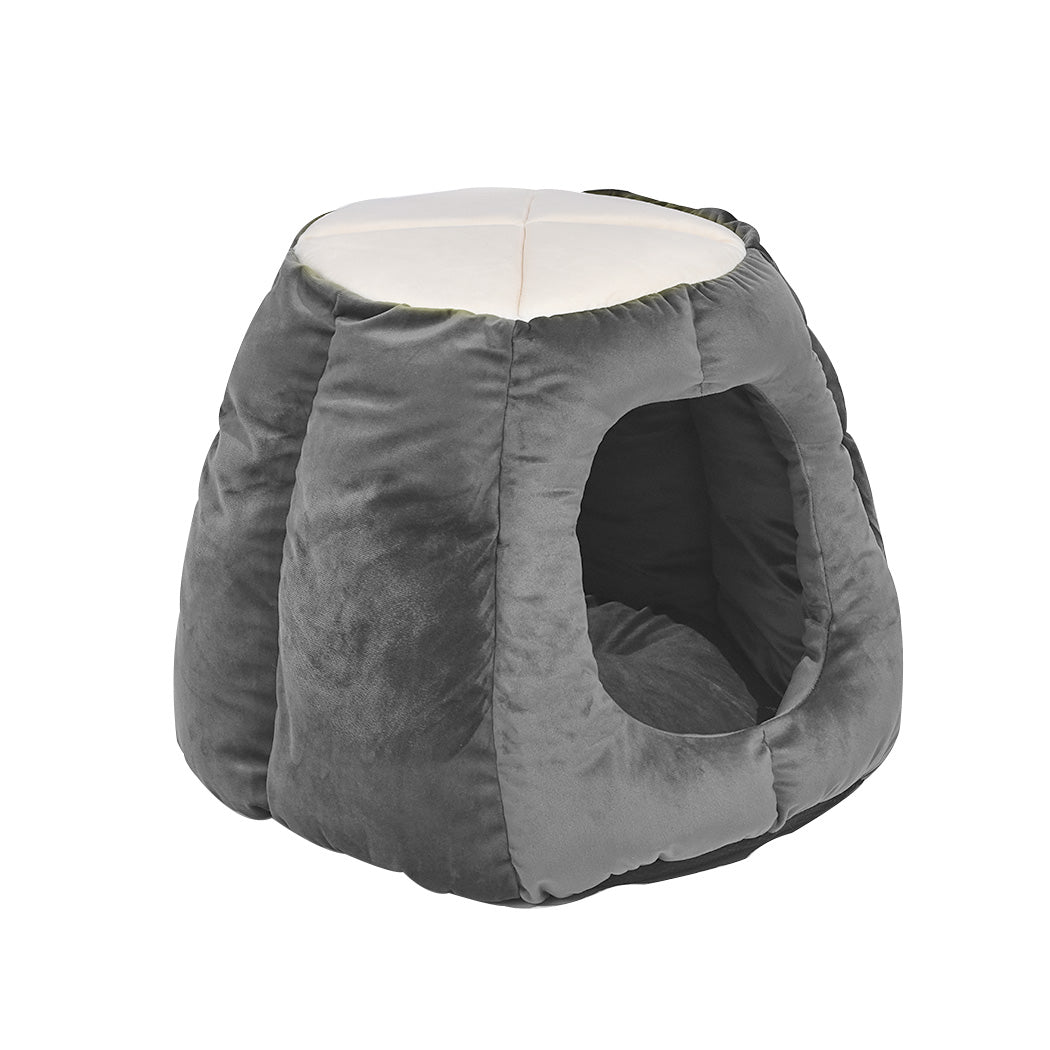 Cat Castle Igloo Round Nest Cave Grey L