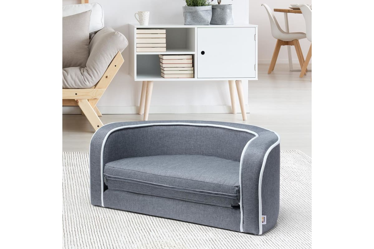 2in1 Pet Bed Sofa Foldable Cushion Fabric Luxury