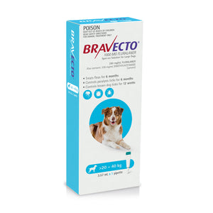 Bravecto Spot On For Dogs Blue 20-40kg