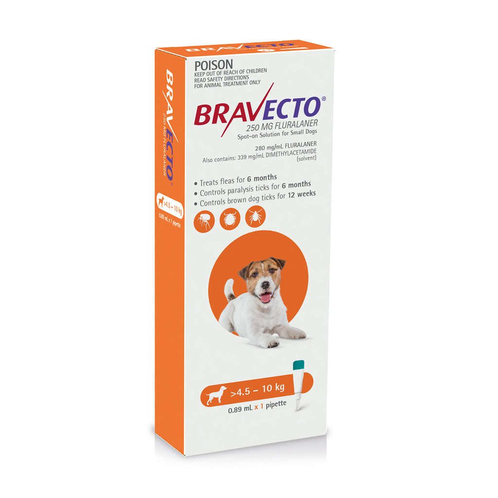 Bravecto Spot On For Dogs Orange 4.5-10kg