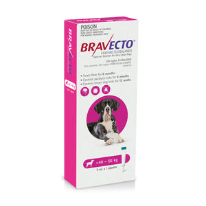 Bravecto Spot On For Dogs Pink 40-56kg