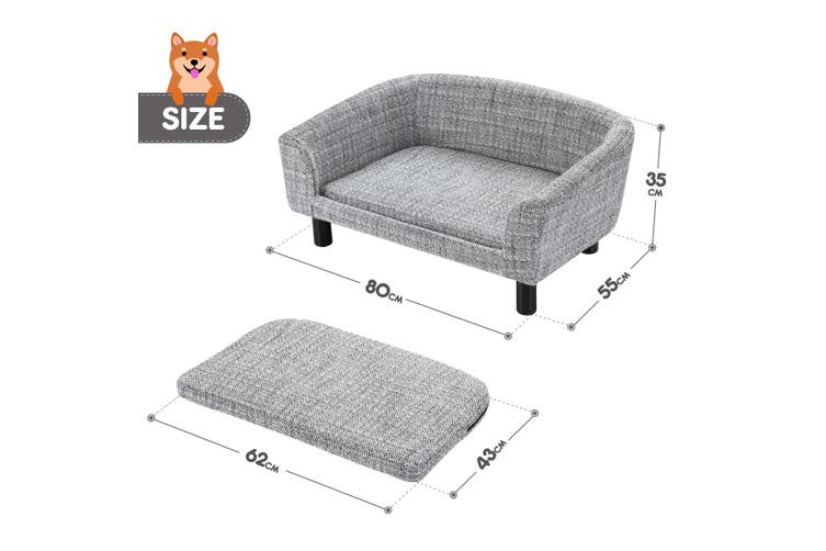 Linen Fabric Dog Sofa Lounge