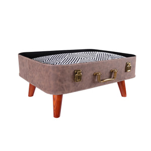 Vintage Retro Suitcase Pet Bed - Brown - House of Pets Delight