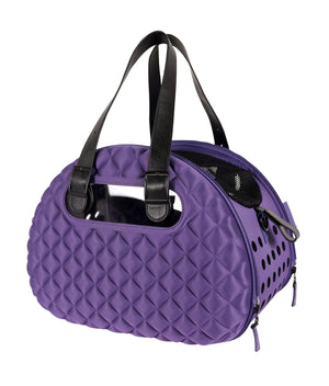 Diamond Deluxe Purple Pet Carrier