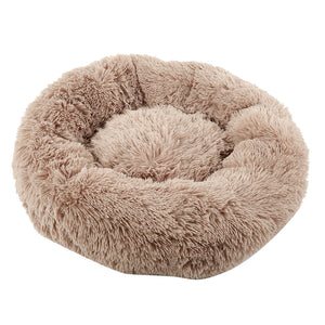 Soothing Calming Donut Pet Bed in Brown