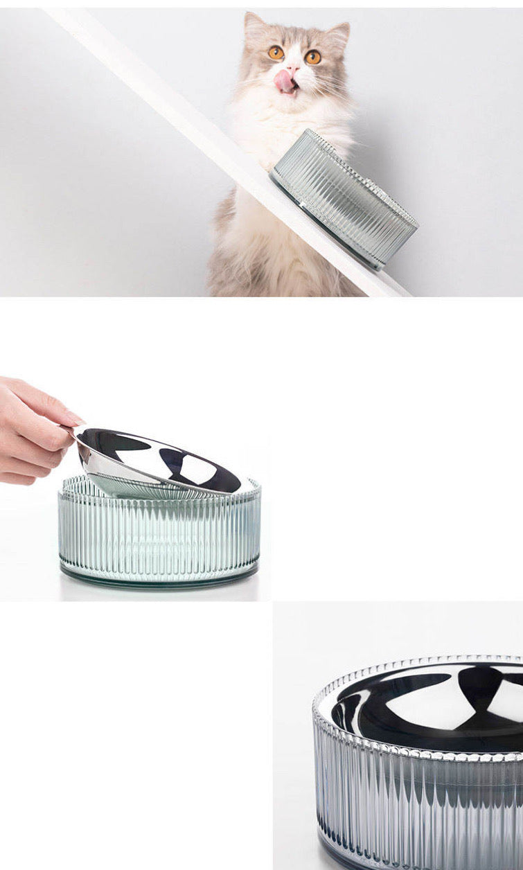 Contemporary Stainless Steel Pet Bowl in Blue - Preorder
