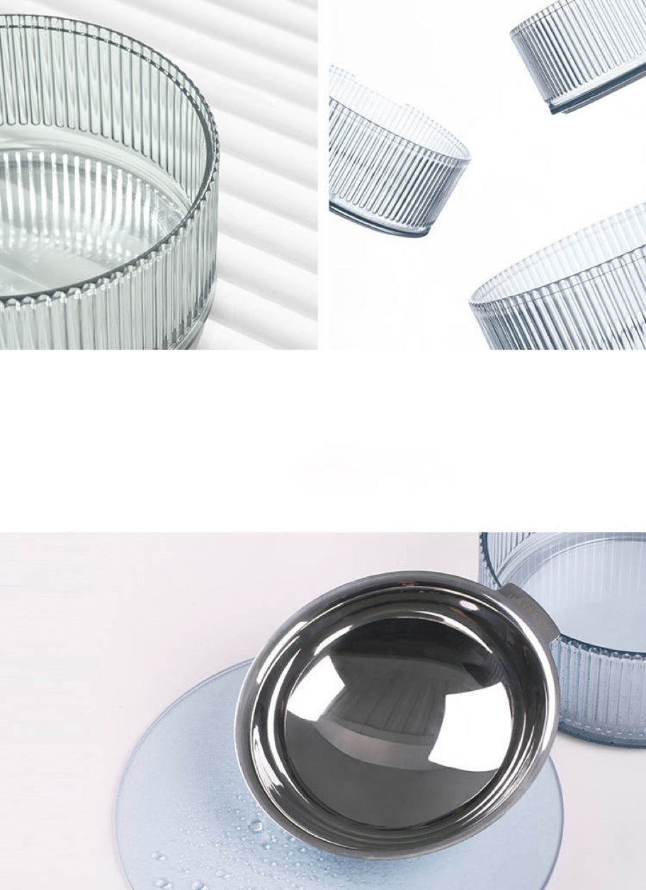 Contemporary Stainless Steel Pet Bowl