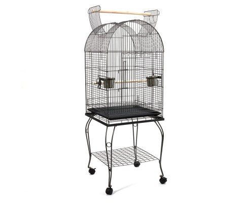 Pet Bird Cage with Stainless Steel Feeders - House of Pets Delight
