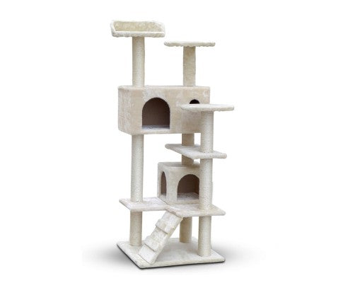 134cm Multi Level Cat Post in Beige