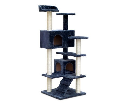 Pet 134cm Cat Scratching Post - Dark Grey