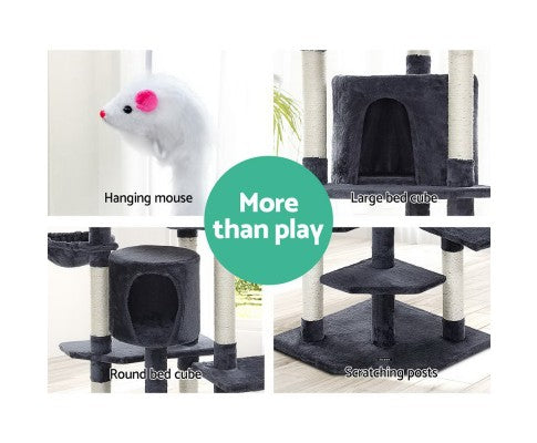 Pet Cat Tree Tower Condo House 203cm