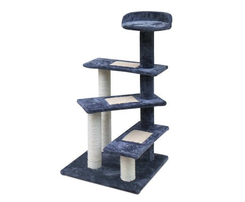 Multi Level Cat Scratching Tree - Grey - House of Pets Delight