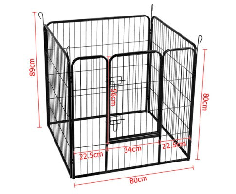 8 Panels Pet Dog Exercise Playpen Crate 80CM - House of Pets Delight
