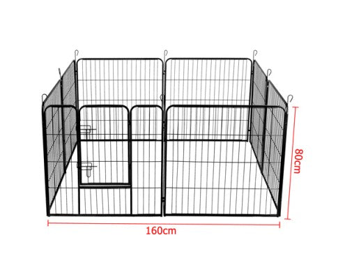 8 Panels Pet Dog Exercise Playpen Crate 80CM