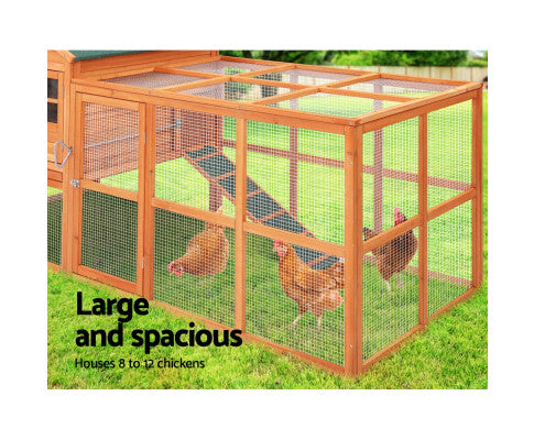 XL Pet Chicken Rabbit Hutch with Large Run