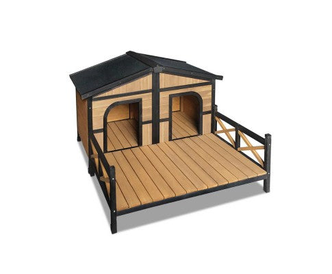Double Patio Dog Kennel - House of Pets Delight