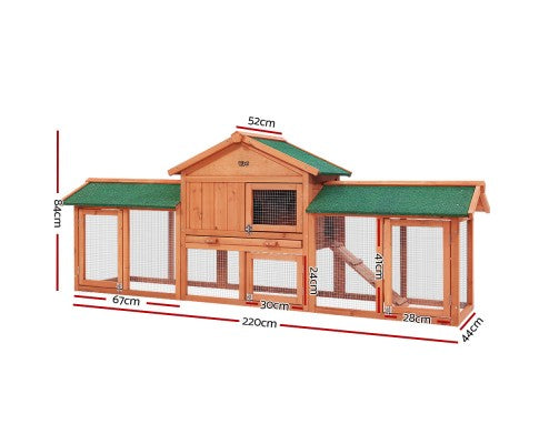 Chicken/Rabbit Hutch - Coop with Run