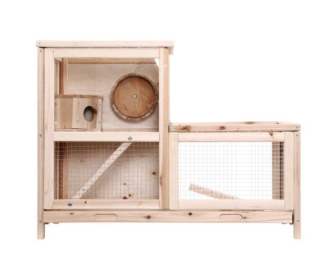 Pet Hamster Guinea Pig Ferrets Rodents Large Wooden Hutch with Run
