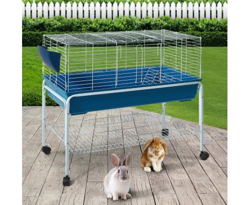 Wooden Indoor Rabbit Guinea Pig Small Pet Cage Hutch - House of Pets Delight