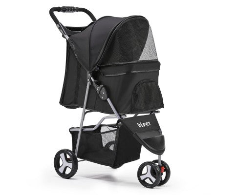 Pet 3 Wheel Pet Stroller - Black - House of Pets Delight