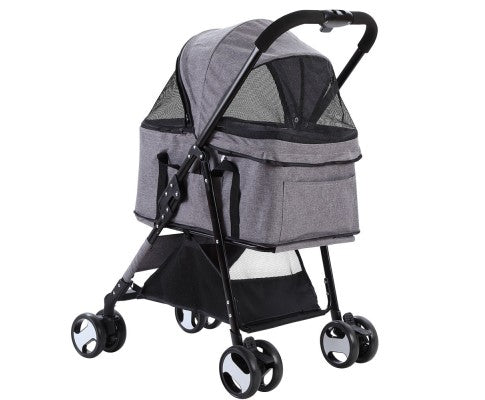 Pet Stroller & Carrier Foldable Pram 3 in 1