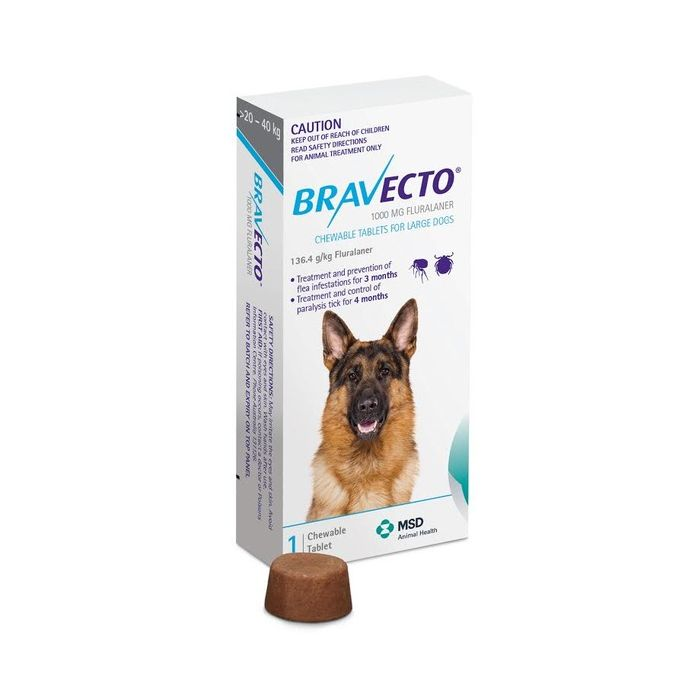 Bravecto Chew for Large Dogs 20-40 kgs