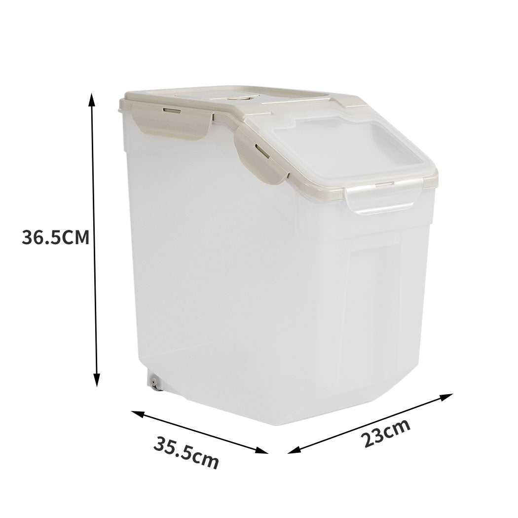 Pet Food Container Storage Box With Wheel 10L
