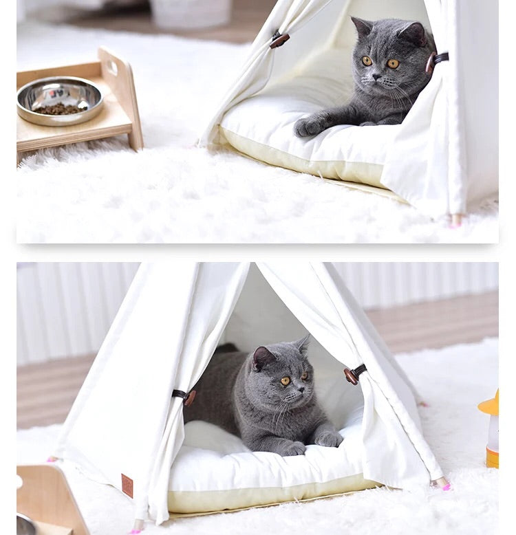 Pet Tee Pee in White - House of Pets Delight