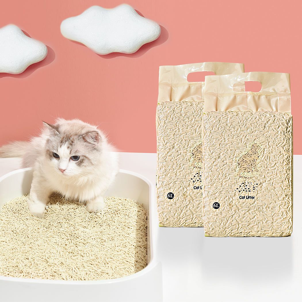 Tofu Cat Litter 6L Edible Crystals Flushable Biodegradable Mint X8
