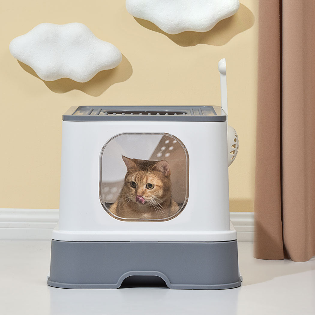 Fully Enclosed Cat Litter Box