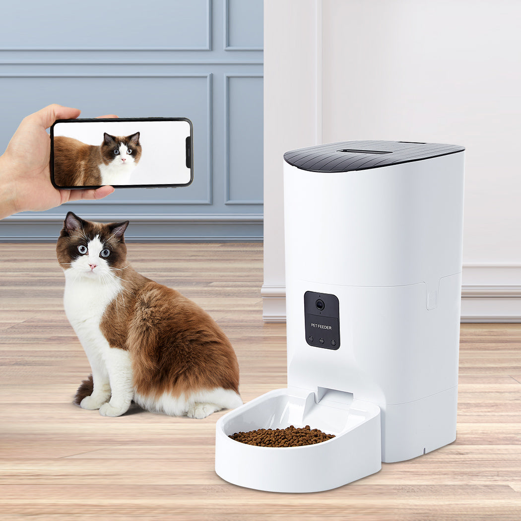 Smart Pet Feeder Food Dispenser Portable Remote Bowl With Camera