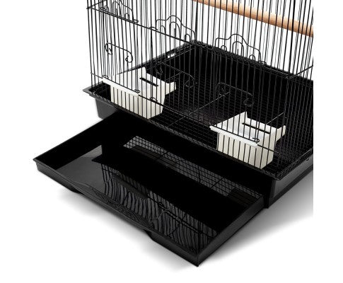Pet Bird Cage Black Medium - House of Pets Delight