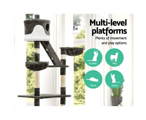 Extra Tall 260cm Multi Level Cat Scratching Post