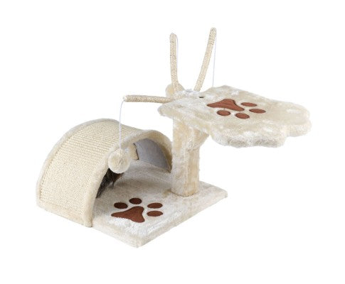 Cat Scratching Poles Tree House in Beige - House of Pets Delight