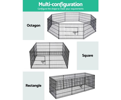 8 Panel Pet Playpen Crate - 36 Inch